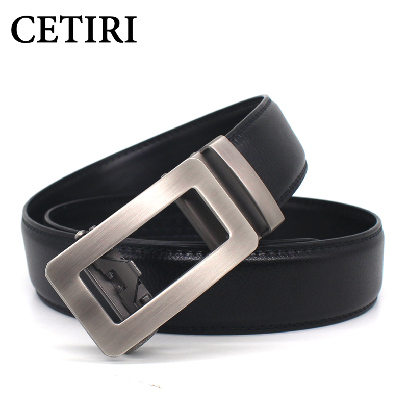 CETIRI mens belt brand designer belts cowhide genuine leather for men luxury automatic buckle cinturones hombre