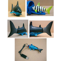 Coke Can Radio Control RC Mini Electronic Shark Fish Boat Kids Toy Gift