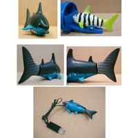 コークス缶ラジオコントロールrcミニ電子サメ魚ボート子供のおもちゃギフト
