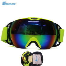 Ski Eyewear Winter Snow Sports Snowboard Goggles with Anti-fog UV Protection for Men Women Snowmobile Skiing Skating with box