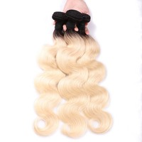 MsToxic 1B/613 блондинка бразильский средства ухода за кожей волна Связки 100% натуральные волосы Связки не волосы remy ткань расширения 12 24 дюймов