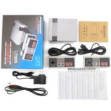 وحدات تحكم ألعاب كلاسيكية للعائلة 8 قطع جهاز تلفزيون فيديو صغير محمول باليد لمشغل ألعاب NES مدمج 620 لعبة