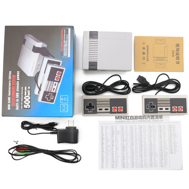 Sistema de consolas de juegos de familia clásicas de 8 Bits, Mini consola de juegos de mano para NES, reproductor de juegos integrado en 620 juegos