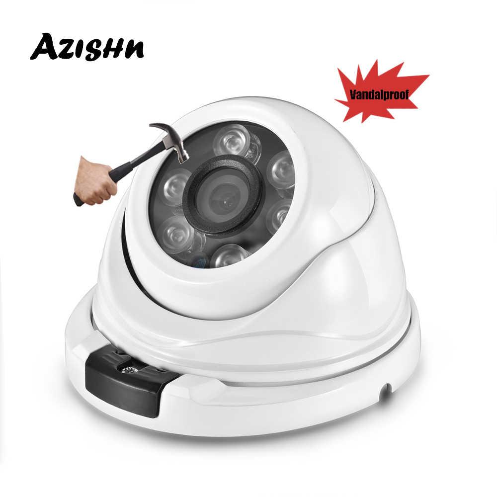 Azishn Vandaalbestendige Metalen H.265 25FPS 2MP 1080P Ip Camera Dome Waterdichte Nachtzicht IP66 Rtsp P2P Xmeye Netwerk Onvif cctv Cam