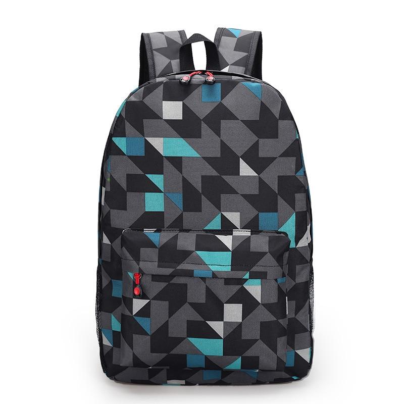 Teens Boy school bags Unisex backpack Printing bag for girls teenagers canvas men back pack women cool geometry schoolbag 2018