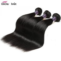 Ishow Hair Malaysian Straight Hair 3 Bundles Deal 100 Non Remy Human Hair Weave Bundles Natural
