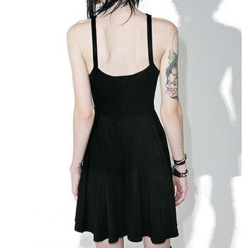 2019 Sexy Summer Women Slim Mini Dress Black Pentagram Women Goth Dress Sexy Fashion Dress 1