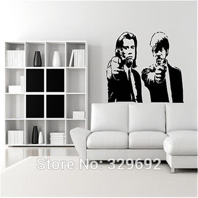 Banksy Jules y Vincent Pulp Fiction vinilo pared etiqueta mural ...
