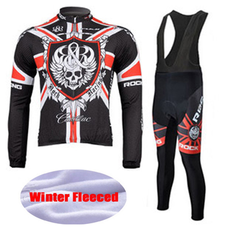 Winter Thermal Fleece Cycling Jersey Set Maillot Ropa Ciclismo Long Sleeve Mountian Bike Wear Keep Warm