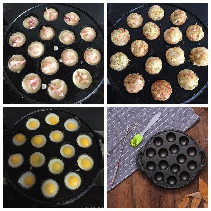 Multifunctional Octopus Ball Making Pot 15pcs Non-stick Waffle Baking Plate Household Breakfast Maker Plate Crepe Frying Machine цена
