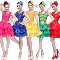 Джазовый танец костюмы для женщин Блестками Хип-Хоп танец dress одежда Певица Ballroom Dress Женщины Джаз Танцевальные Костюмы