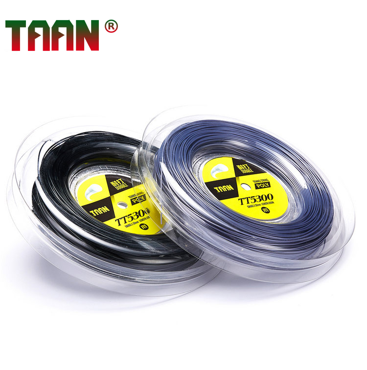 1 Reel Durable TAAN TT5300 1.30mm Tennis Racket String 200m Reel  String/Polyester Tennis Strings