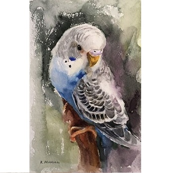 Home Still Kit | Hand Painted Canvas Oil Painting Bird Diy  Parrot Oil Painting Kit For Home Decoration