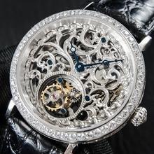 High End Luxe Heren Skeleton Tourbillon Horloge Diamond Hand Kronkelende Mannen Mechanische Horloges ST8000 Tourbillon Klok 2020