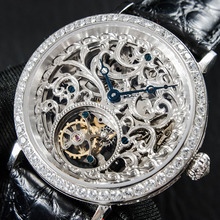 Montre mécanique à Tourbillon pour hommes, luxe, remontage à la main, à Tourbillon, horloge ST8000, 2020