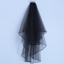Simple Cheap Short Wedding Veil with Comb 80CM Bridal Veils Two Layers Soft Tulle Elbow Length Accessories Marriage