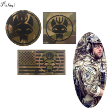 Pulaqi Camo Seal Team Velcros Patch Military Magic Patch Stripes Fabric Navy Seals Patches For Clothing  Flag Badges Appliques pulaqi camo seal team velcros patch army military magic patch stripes fabric navy seals patches for clothing badges appliques