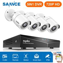 SANNCE 4CH 1080N 5IN1 DVR Kit System Security Surveillance HDMI 720P 1200TVL Weatherproof Outdoor CCTV Security Camera 1.0MP