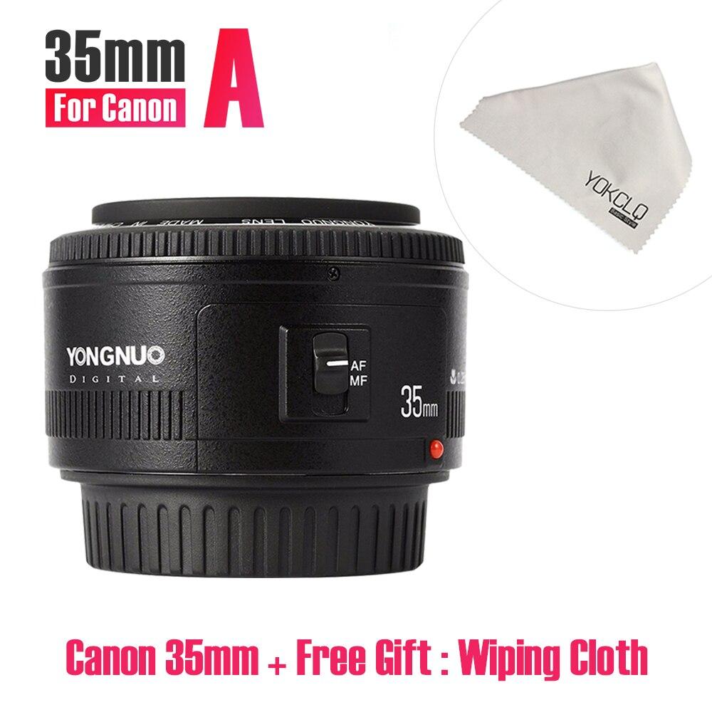 2018NEW Yongnuo YN35mm F2.0 Lentille Grand angle Fixe DRLS Caméra Lentille Pour Canon 600d 60d 5DII 5D 500D 400D 650D 600D 450D 60D