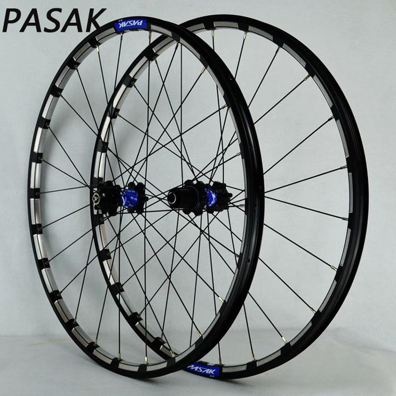 PASAK MTB Mountain bicycle wheel CNC Rim 26inch 27.5inch wheelest sealed bearing disc brake bicycle wheel все цены