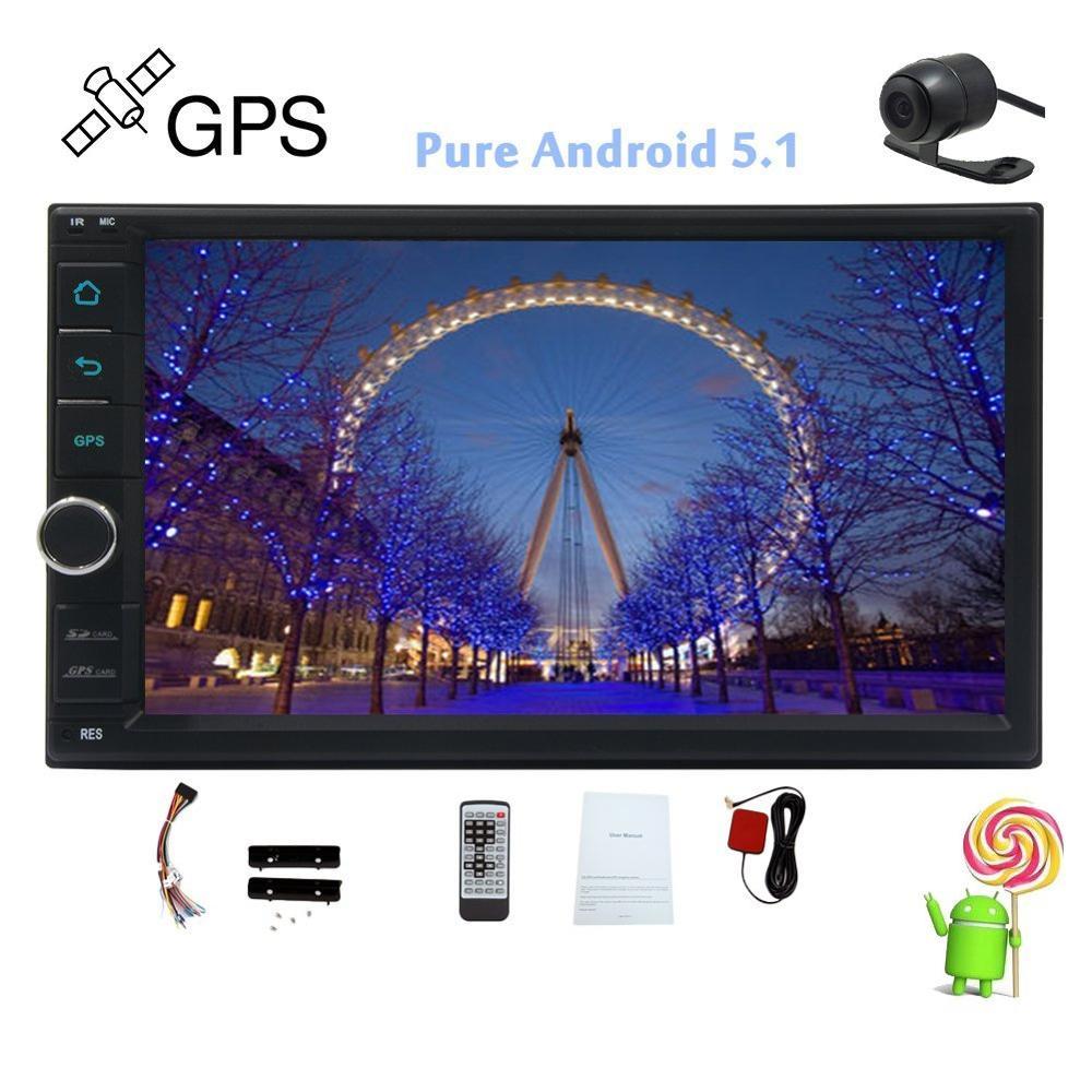 Android 5 1 Car Radio Stereo GPS Navigation 2 din Car Stereo NO DVD Video CD