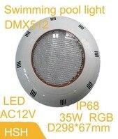 24 вт плавательный бассейн свет RGB, светодиодный подводный свет лампы накаливания пульт дистанционного управления бесплатная доставка
