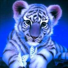 DIY Diamond Painting Animals Full Square Round 3D Embroidery Tiger 5D Daimond Cross Stitch