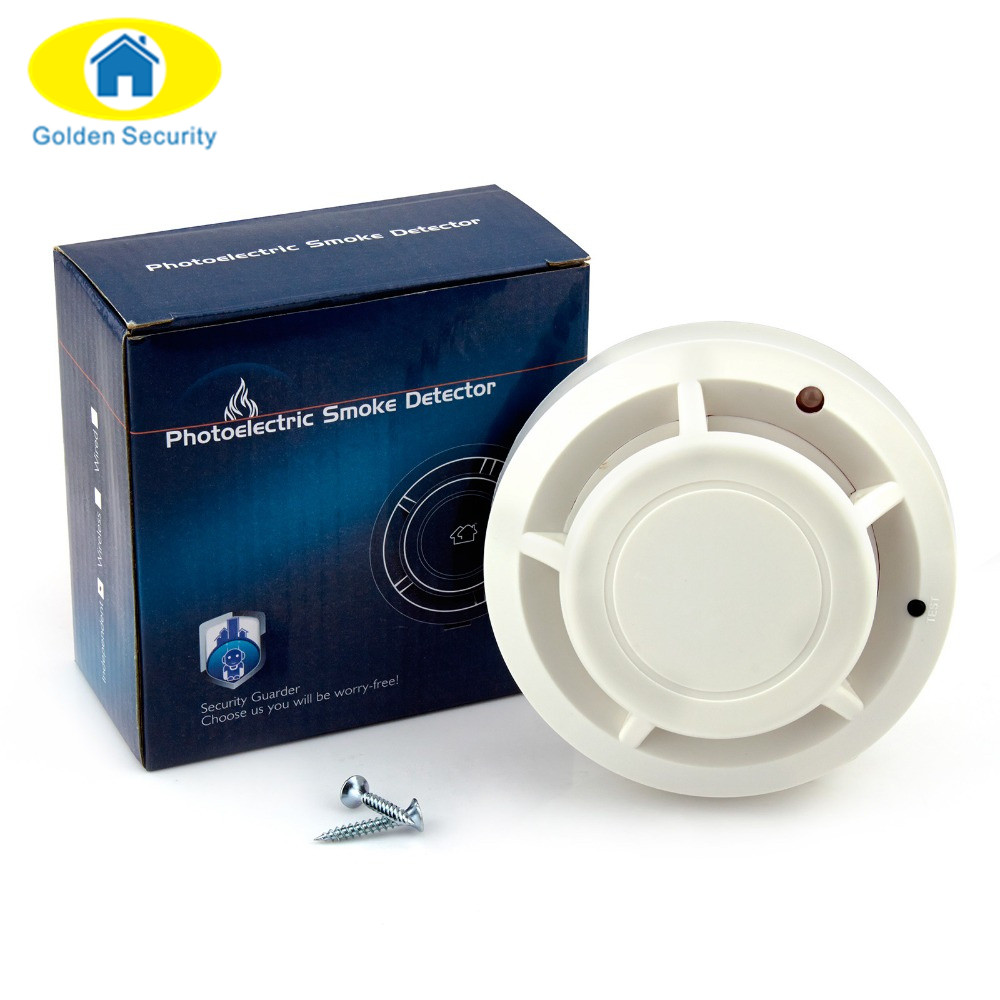 Golden Security 433 Wireless Fire Smoke Sensor Detector Burglar Alarm System for Industrial Security Alarm Accessories wireless vibration break breakage glass sensor detector 433mhz for alarm system