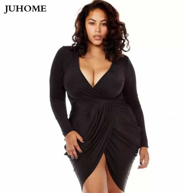 Sexy black dress for plus size women