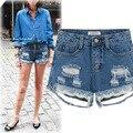 Kesebi 2017 Spring Summer New Hot Fashion Female Hole Casual Classic Basic Bottoms Women Plus Size Ripped Jeans Denim Shorts