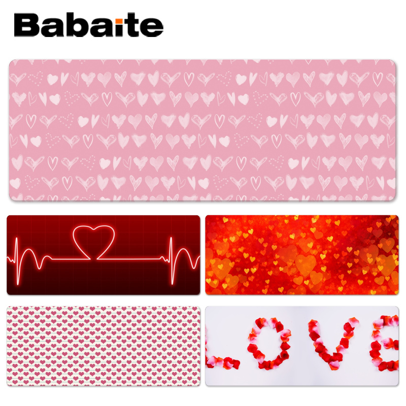 Babaite Personalized Cool Fashion love mouse pad gamer play mats Size for 300x700x2mm and 300x900x2mm Small Mousepad