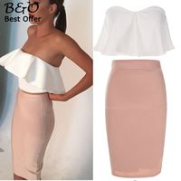 Women Set Clothing Crop Tops And Pencil Skirt Set Women Two Pieces Party Dresses Xl 61