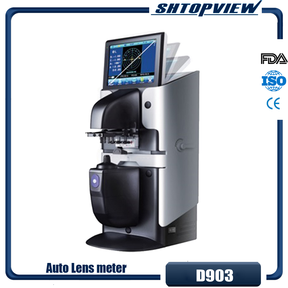 D903 Cheapest Digital Auto lensmeter lensometer Focimeter Colorful touch screen with FDA CE