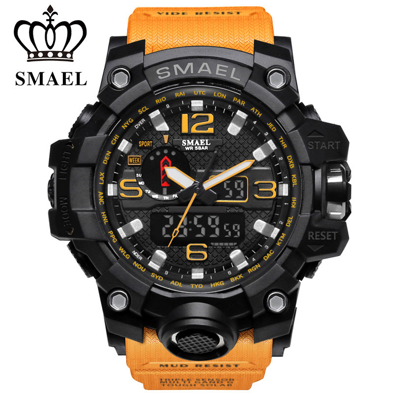 Brand Mens Sports Watches Military Dual Display Analog Digital LED G Style Quartz Wristwatches Outdoor Waterproof Swimming Watch skmei kids sports watches children for girls boys waterproof military dual display wristwatches led waterproof watch 1163
