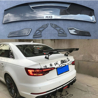 For Audi S4 A4 B8 B9 High Quality Carbon Fiber Rear Trunk Spoiler MAD Style 2009 UP