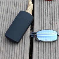 Occhiali da lettura clara vida inoxidável óculos de leitura dobrável para homem portátil + 1 1.25 1.5 2 2.5 3 3.5 4