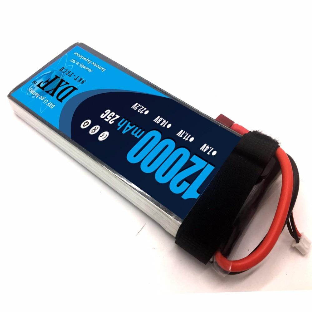 Dxf 12000 Mah 7.4V 2S 25C Rc Lipo Batterij Voor Helikopter S1000 Drone Fpv Uav Auto Boot - 4