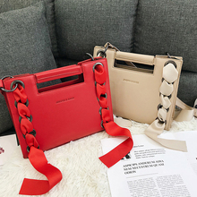 Fashion Ribbon Women's Shoulder Bags Luxury Leather Women Handbags Pu Flap Women