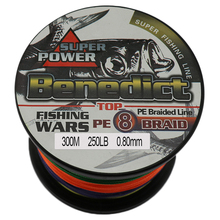 Super strong 8 strands 150LB 200LB 250LB pe braided fishing line 300M sea fishing 0.68mm 0.75mm 0.8mm line fishing tool