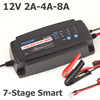 FOXSUR 12V 2A 4A 8A 7 Stage Smart Battery Charger GEL WET AGM Battery Type Charge