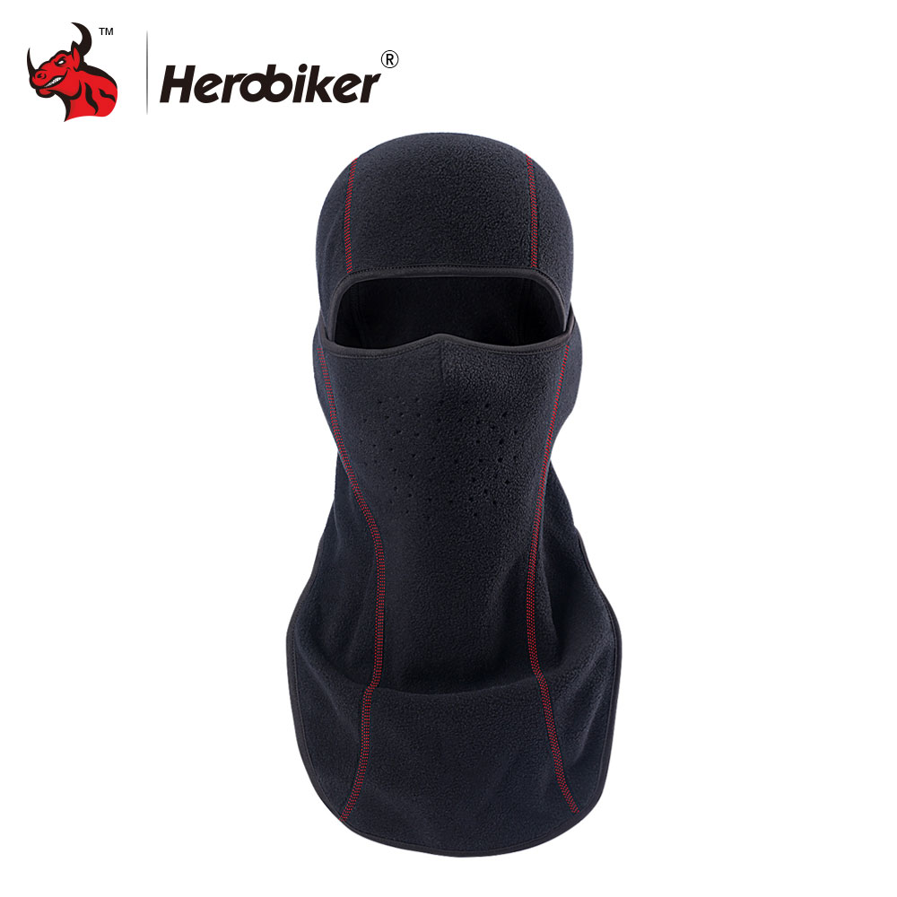 HEROBIKER Motorcycle Face Mask Hat Neck Fleece Balaclava Hat Motorcycle Face Shield Winter Hats Balaclava Neck Moto Mask ymsaid latest hot selling multi functional knit cap balaclava mask winter wool hats adult men and women neck warmer thick it tak