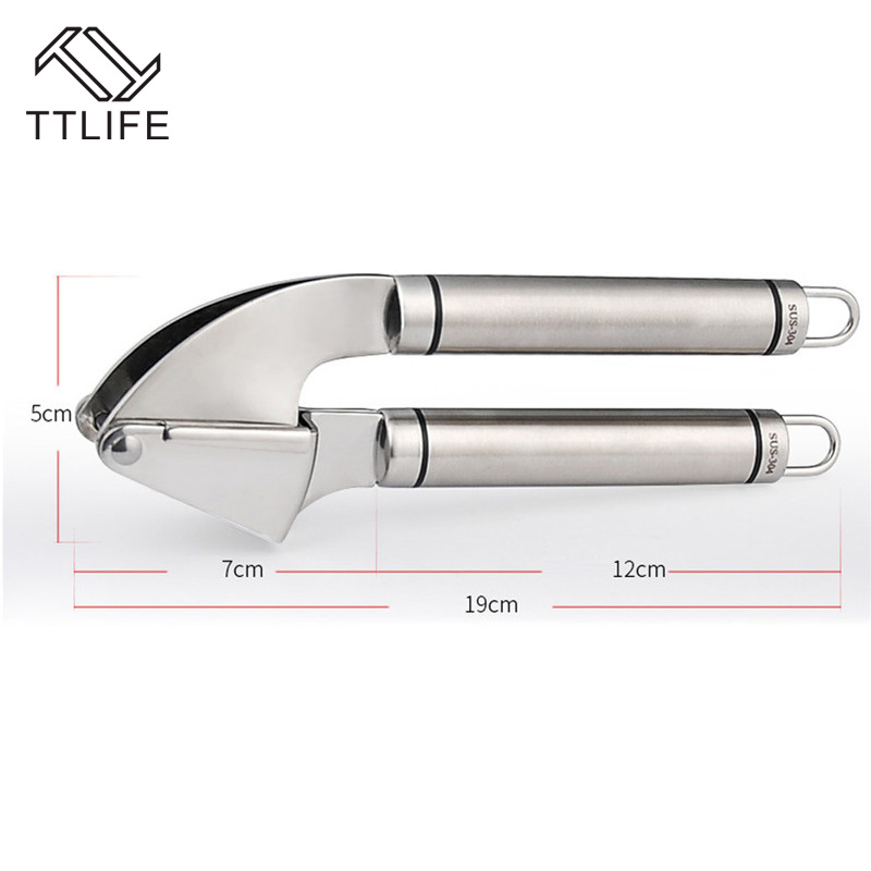 TTLIFE 2016 Hot Kitchen Squeeze Tool Alloy Crusher Garlic Presses Stainless Steel Garlic Ginger Grater Planer