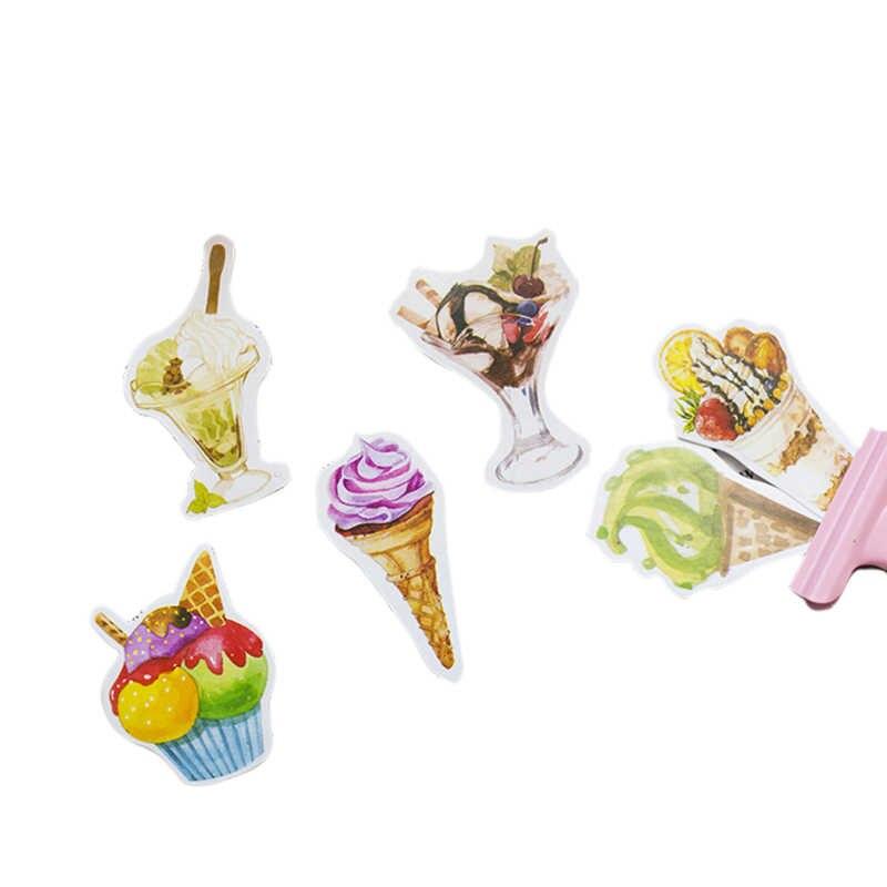 20 แพ็ค/lot lovely sweet ice cream shape ตกแต่งกาวกระดาษบุ๊คมาร์คสติกเกอร์ป้ายของขวัญเด็กขายส่ง