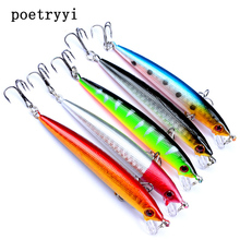 1pc High Quality Minnow Fishing Lures 90mm 11g Crankbait Wobblers 3D Eyes Artificial Hard pesca Bass tackle 30