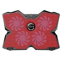 Четыре Вентилятора USB 2.0 Ноутбук Охлаждения Колодки Four Fans Cooling Pad Радиатор с Воздушным охлаждением Алюминиевый Охлаждающая подставка Для Игр портативный Ноутбук