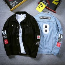 Men Jacket Coat Trendy Brand New Denim Jackets Men Top Quality Fashion Mens Jean Bomber Jacket Cotton Outwear Male Cowboy HipHop