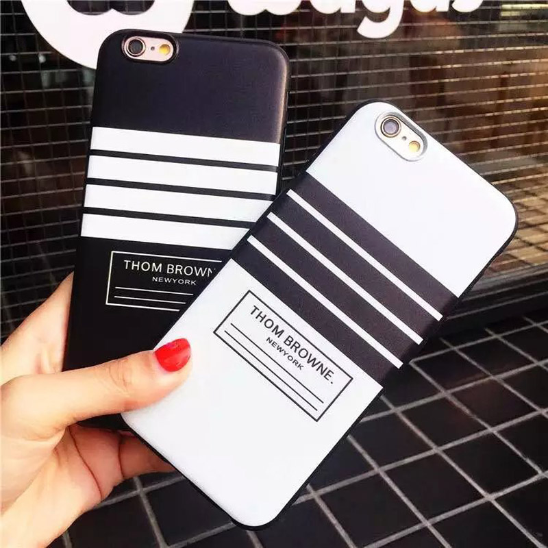 Hehan personalized simplicity For iphone7plus embossed mobile phone shell For iphone7 6plus black matte striped soft shell ...