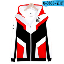 Avengers Endgame Hoodie Polyester Moletom Avengers End Game Hoodie Clothing Costumes Zipper Hoodies 3D Clothing 3D Clothes kids
