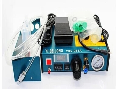 YDL-983A New Dremel 220v Auto Glue Dispenser Solder Paste Liquid Controller Dropper Dispensing System 1 set auto glue dispenser solder paste liquid controller dropper ydl 983a dispensing system 110v
