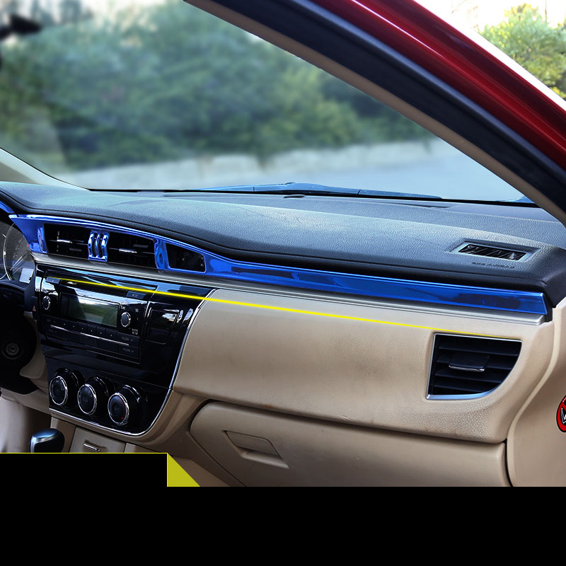 lsrtw2017 car styling car dashboard trims for toyota corolla 2013 2014 2015 2016 2017